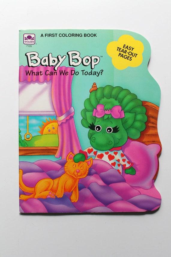 Baby Bop / Barney para colorear libro de 1993