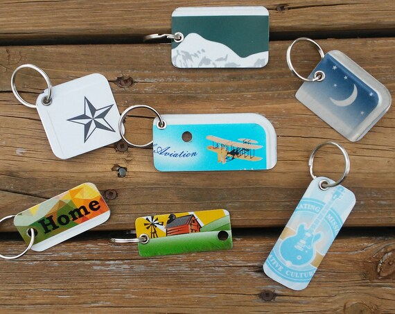 License Plate Key Chain - License Plate Art Keychain - Key Ring Key Chain from Real License Plates - Small Gift - Stocking Stuffer