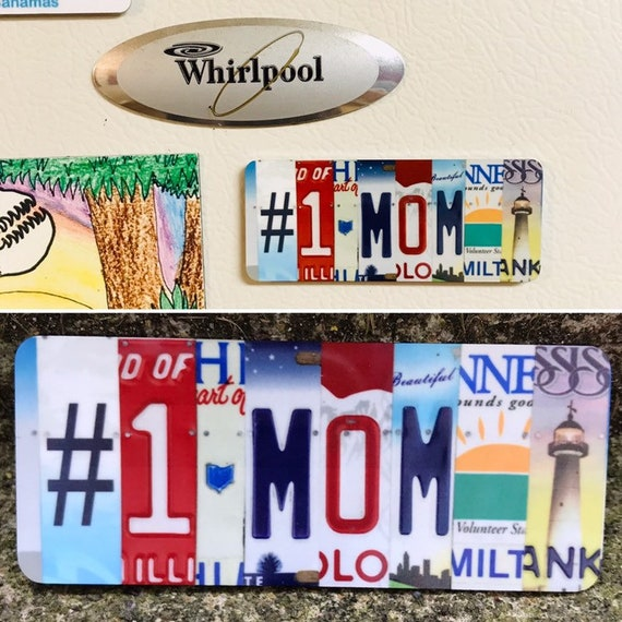 Mothers day magnet,  number one mom, refrigerator magnet, Mother's Day kids gift