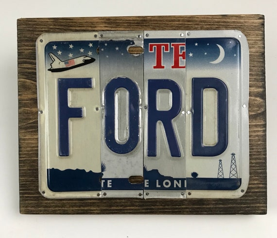 Ford license plate sign / car Gift / mancave
