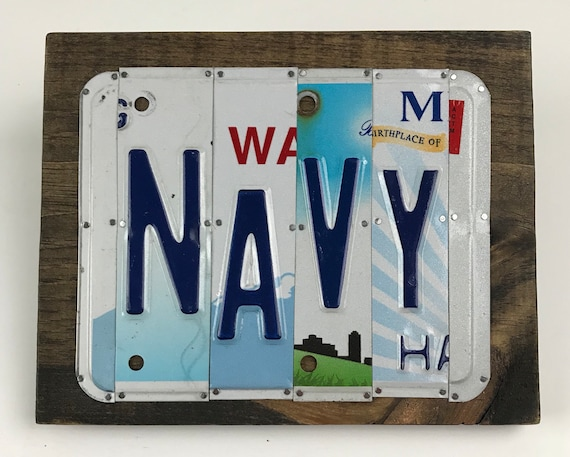Navy license plate sign / US Navy Gift / Navy gift / license plate plaque Navy
