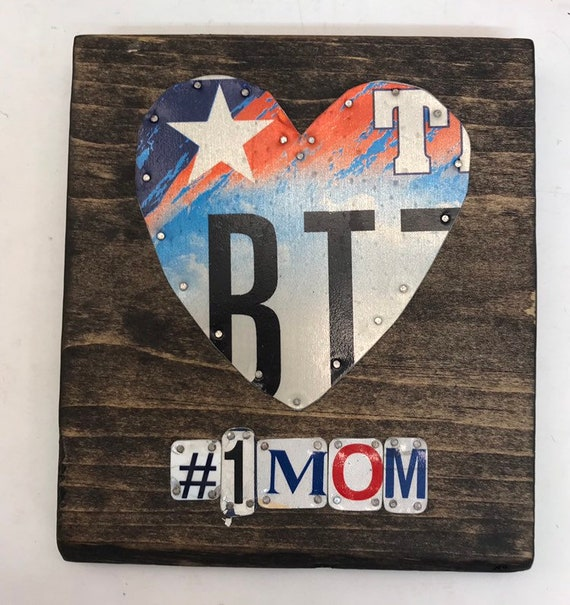 Number 1 Mom License Plate Sign - License Plate Wall Art - Rustic Sign -
