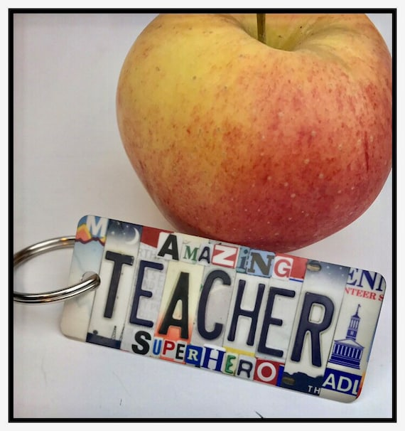 Teacher  key chain -Key Ring bag tag Gift for son / husband / Daughter / Friend