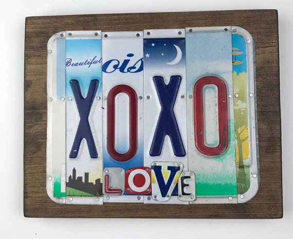 Love Laugh, License Plate Sign, garage signs, store gifts, gift for her, love sign, fun sign
