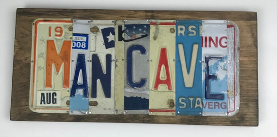 Mancave - Father's Day Gift Idea - Man Cave License Plate Sign - Unique Gift - License Plate Art - License Plate Sign - Gift for Man