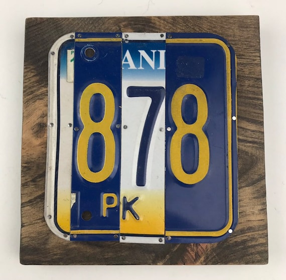 878, 878 area code, License Plate Sign - Area Code, pittsburgh, Pennsylvania, Unique Gift, (Rustic Apple Art seen in Country Living Mag)