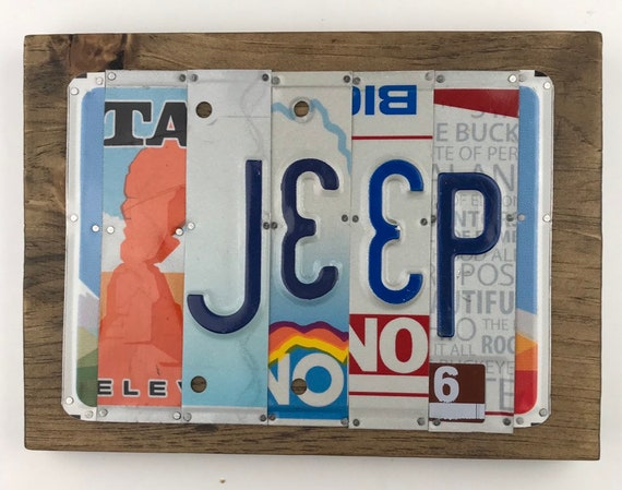 JEEP sign License Plate Sign, garage signs, Jeep gifts, unique Jeep sign, gift for him, man cave sign