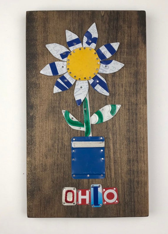 Ohio flower, License Plate Sign, garage signs, store gifts, gift for her, love sign, fun sign, gifts for mom, unique mom