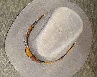 VINTAGE SMITHBILT STETSON Cowboy Hat Canadian Manufactured Western Stetson Beige  Colored Stetson Hat Bone Colored Stetson Made in Canada Hat ffc21c9a6ccb