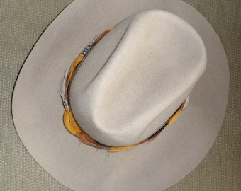 0b0cd96f1da VINTAGE SMITHBILT STETSON Cowboy Hat Canadian Manufactured Western Stetson Beige  Colored Stetson Hat Bone Colored Stetson Made in Canada Hat