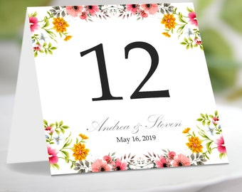 table number tent etsy