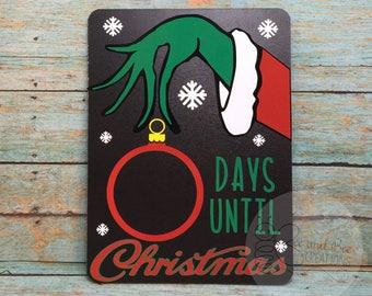 Grinch Christmas Countdown chalk board