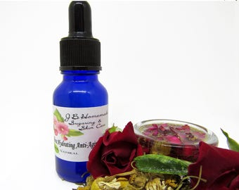 Rose And Chamomile Anti Aging Facial Serum, Anti Aging Serum, Face Serum, Organic Skincare, Natural Skincare, Vegan, Organic Face Serum