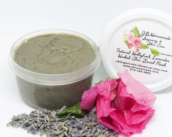 Lavender Hollyhock Facial Mask, Organic face mask, Pore cleanser, Facial mask, Clay mask, Face mask, Natural mask, Natural skin care, 2 Oz