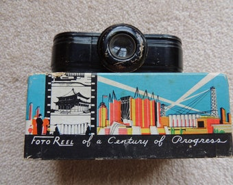 Century of Progress Chicago World's Fair 1933-1934  Foto Reel Viewer - Original Film and Box Included