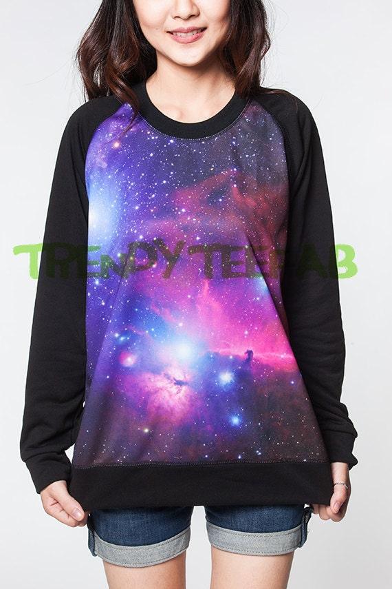 comprar popular 6a4df 5ddbe Galaxia suéter rosa nebulosa cósmica sudadera Unisex mujeres camiseta  camisa puente negro manga larga talla S, M, L