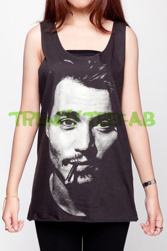 Johnny Depp Vest Tank-Top Singlet Dress T-Shirt Mens Womens Ladies