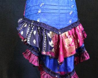 Circus Cosplay Steam Punk Hip Scarf Tribal Belly Dance S-XL ZANY Short Bustle Ats Burning Man Burlesque Fairy Barocco