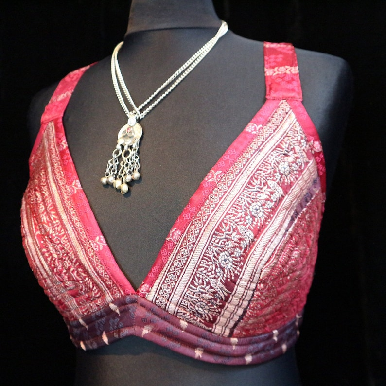 Ats Barocco Halter Burning Man Steam Punk Troupe Costume Larpers Tribal Belly Dance Bra Circus Halter Top S PIXIE PARTY Burlesque