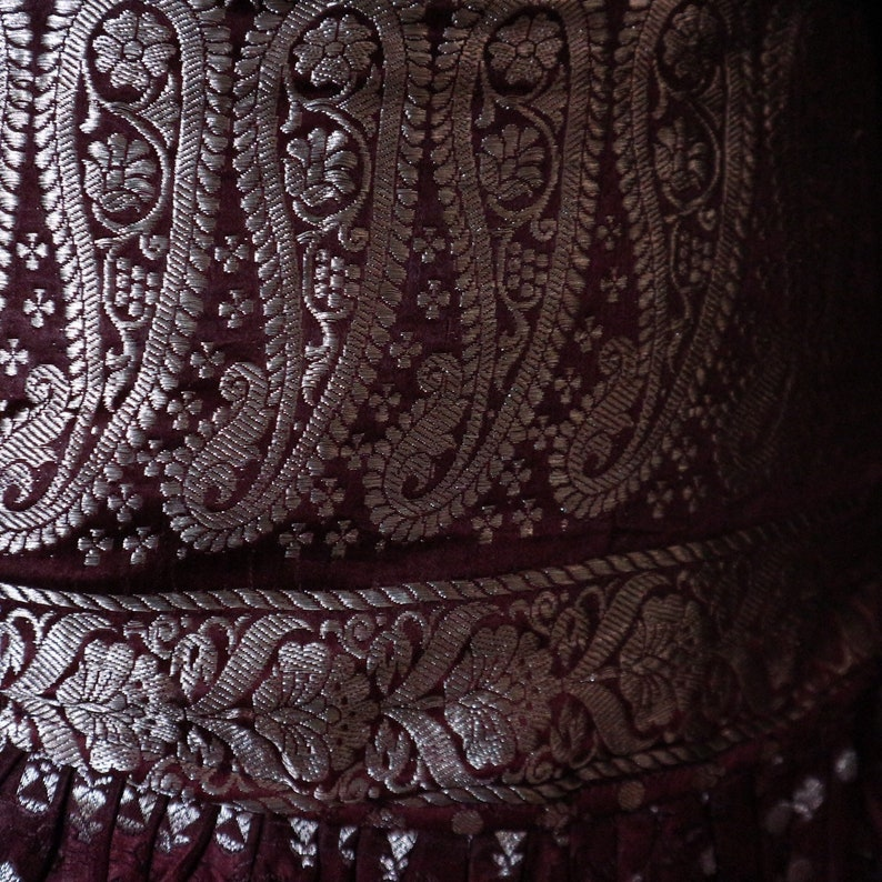 Short Skirt L Belly Dance Short Ruffle Skirt SAIRA Hip Scarf Mini Festival 42-52 Burning Man Silk Sari Tribal Fusion