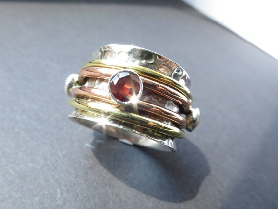 Solid Copper Brass Spinner Ring Jewelry Meditation ring statement All Size LA-20