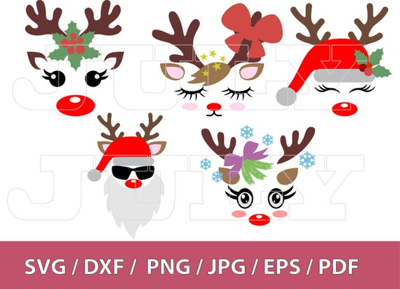 70 Off Christmas Reindeer Face Svg Deer Head Svg Deer Etsy