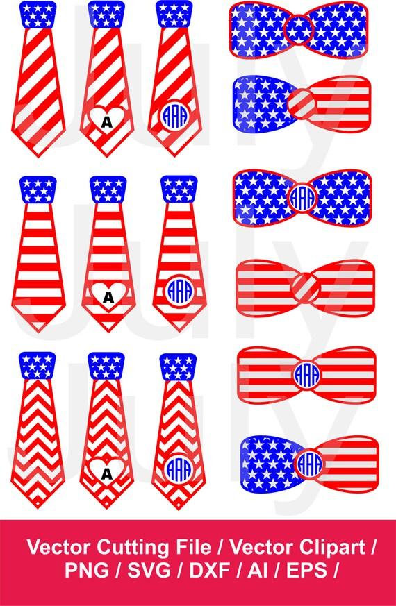 patriotic ties american flag tie svg bow clipart tie svg etsy