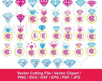70 % OFF, Diamond SVG, dxf, png, eps, pdf, jpg, Diamond Clipart, Diamond Monogram Frames, Diamond Silhouette, Diamond Digital Cutting File