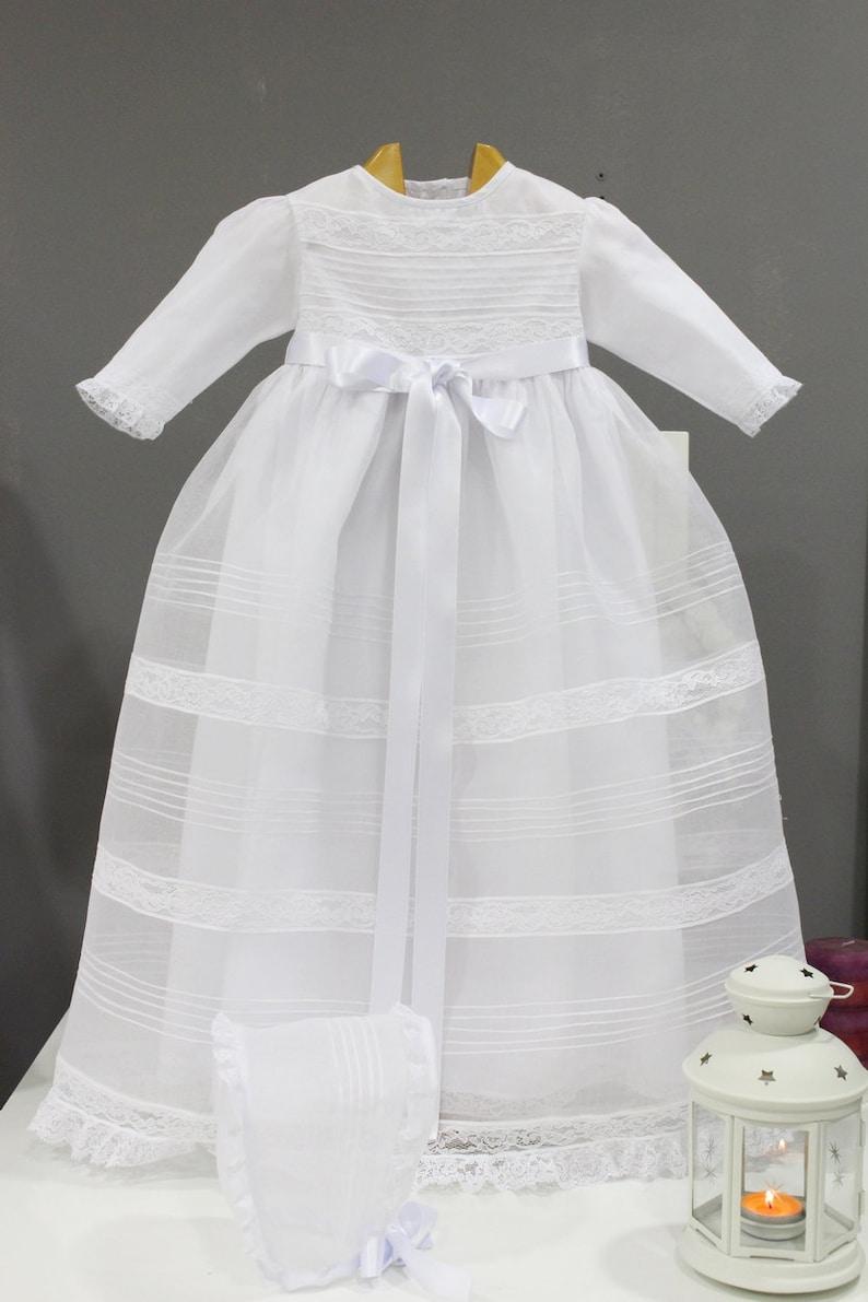 dc6a5f02c Faldon de lujo Cristianar blanco Ropon de Bautizo blanco.