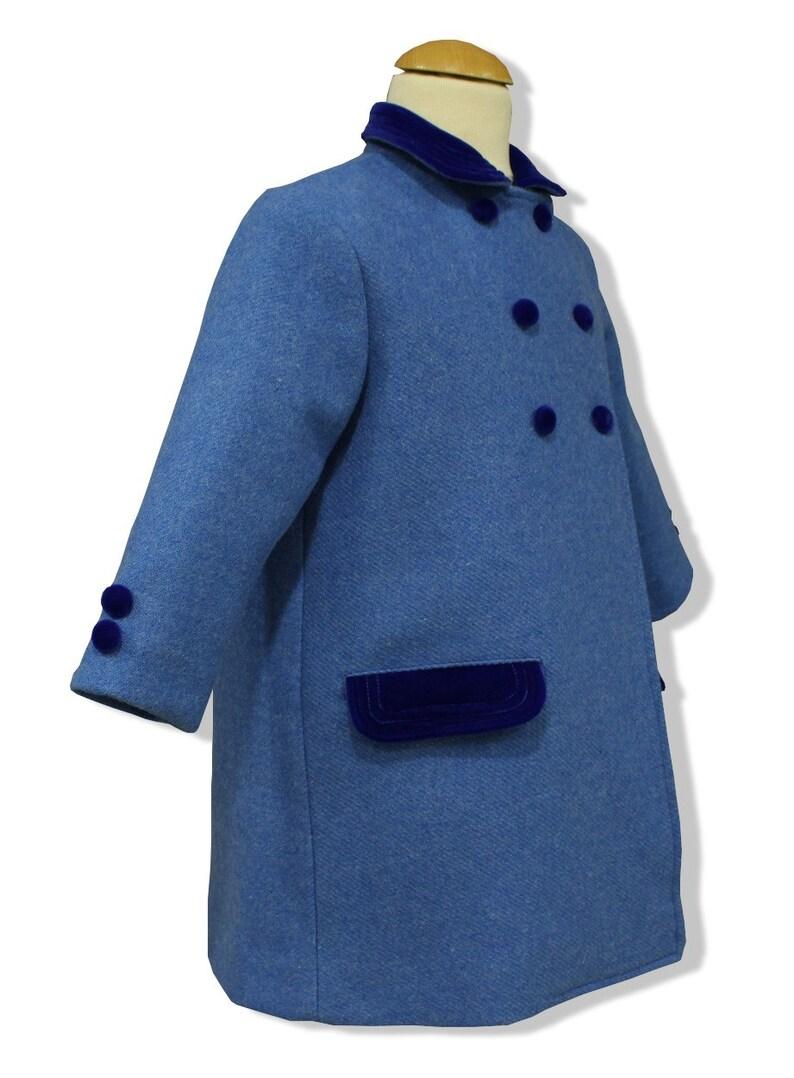 98ccf831c Abrigo para niños modelo clásico inglés en paño azul francia | Etsy