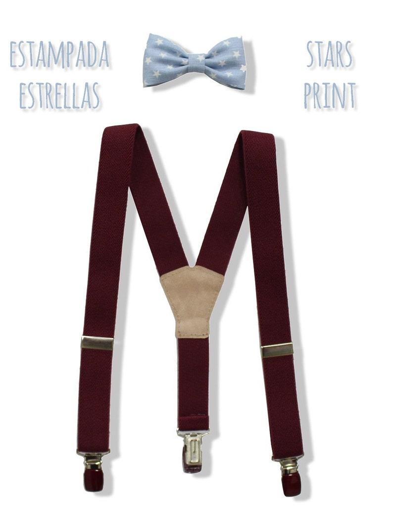 7d91ee2b436c Garnet Suspenders and bow tie set for Boys in weddings | Etsy