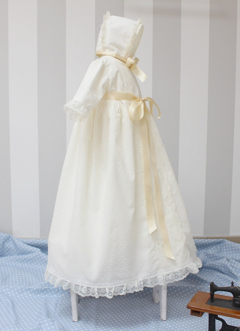 aa9b810444 Baby Baptist gown Spanish style baby christening dress.