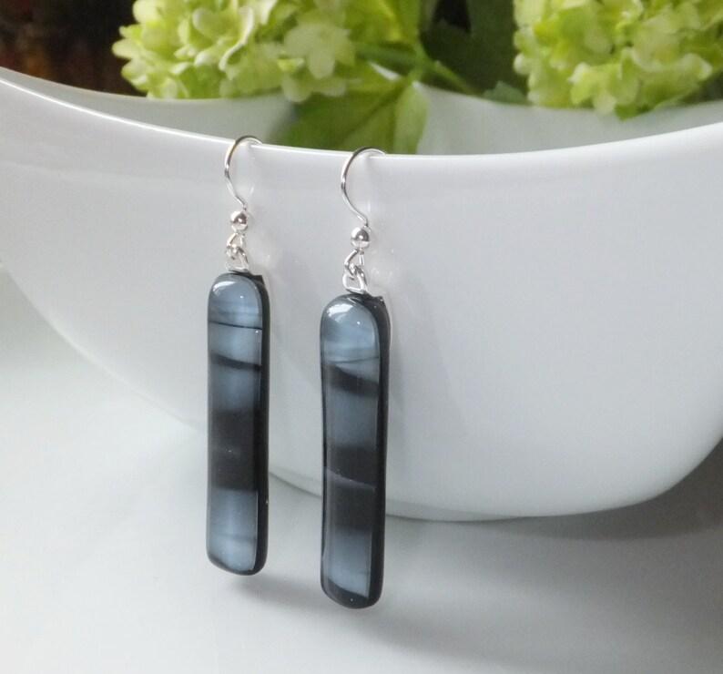 Earrings fused glass earrings