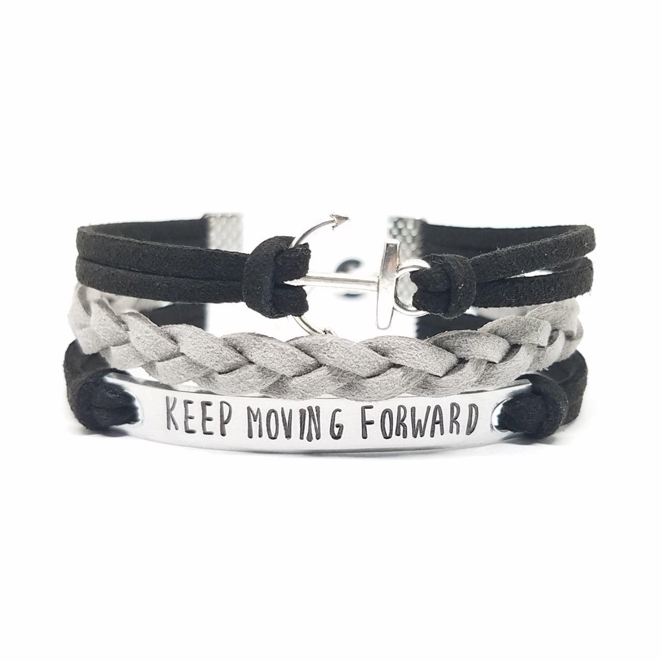 keep moving forward bracelets