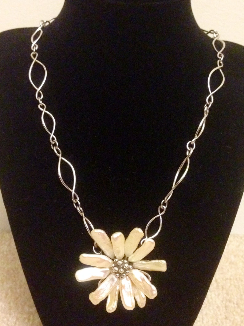 2e626cb4a T&Co. Iridesse Pearl Flower Necklace   Etsy