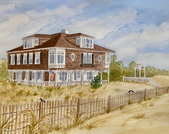 Personalized Home Watercolor from photo, Painting of home, First Home Gift, Custom House Drawings, Original Watercolor House portrait.