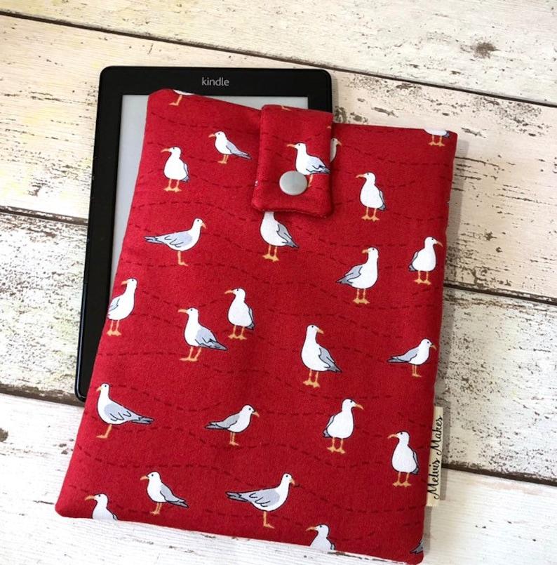 Seagull Kindle Sleeve Birds eReader Case Coastal Travel image 0