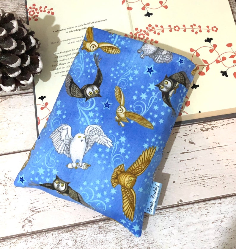 Blue Owls Book Buddy Magical Book Sleeve Padded Book Pouch image 0