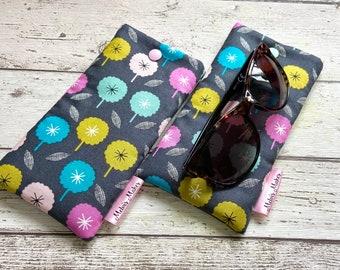 SALE Small Confetti Wide Sunglasses Glasses Case - Ready to Ship