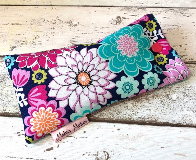 Bright Blooms Glasses Case 2 sizes Colourful Floral image 0