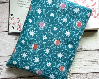 Moon and Stars Book Buddy, Celestial Book Bag, Astrology Book Lover Gift, Night Sky Book Pouch, Starry Skies Reading Gift