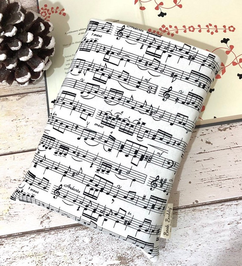 Sheet Music Book Buddy Monochrome Book Sleeve Melodic image 0