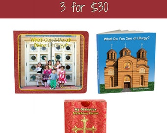 What Do you See at Liturgy, What Can I Do at Divine Liturgy & My Orthodox Matching Game