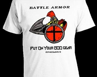 God Gear T Shirt, Battle Armor T Shirt