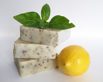 Lemon + Basil Kitchen Soap