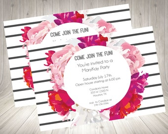 Direct Sales Home Party /Business Invitation /mary kay / Girls Night /open house / Flyer / Invite / Printable / Digital Download