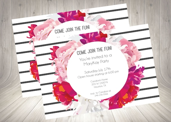 Direct Sales Home Party Business Invitation Mary Kay Girls Night Open House Flyer Invite Printable Digital Download