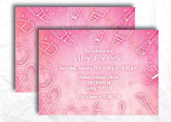 Direct Sales Home Party Mary Kay Business Invitation Girls Night Open House Flyer Invite Printable Digital Download