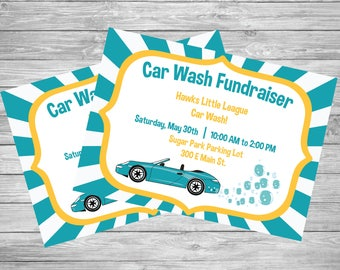 Fundraiser Flyer / Car wash / Sports team / School / Church / Handout  / Printable / Digital download