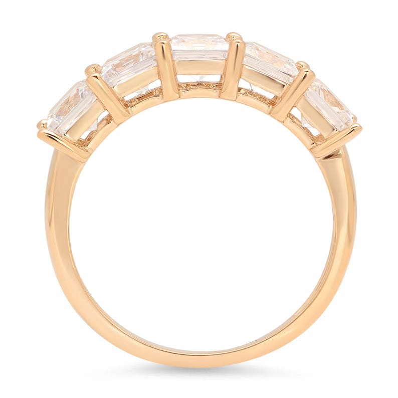 Always Band 3.75 Ct Lab Diamond Princess Cut Bridal Wedding Ring In 14k Solid Yellow Gold Always Rings Always Promise Band Promise Band